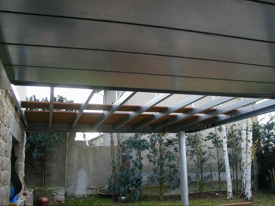 Terrasse Acier Galvanisé  Garde Corps Inox+verre   Plancher IP