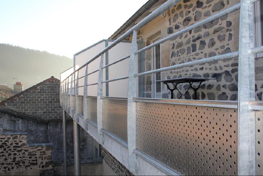 Grand Terrasse Et Garde Corps En Acier Galvanisé   Plancher IP